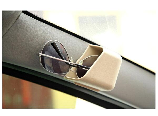 美琪汽車內裝飾用品*汽車儲物盒A柱收納眼鏡收機盒