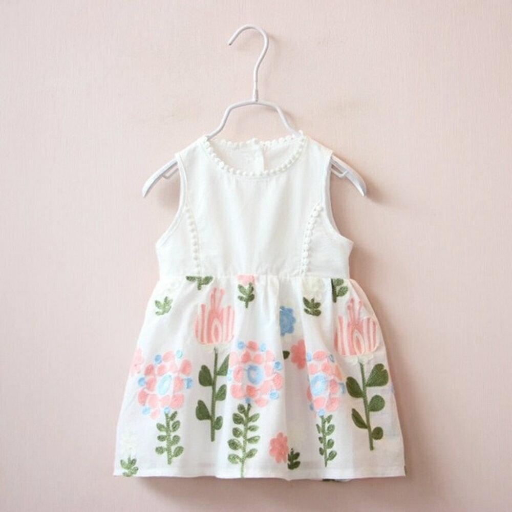 ✤宜家✤新品時尚可愛寶寶繡花連衣裙 洋裝