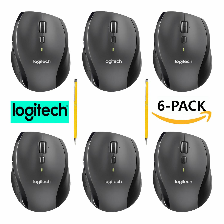 83e9126a52b Logitech M705 Marathon Wireless Mouse for Computers Laptops Fast Scrolling  Bundle (6-Pack +