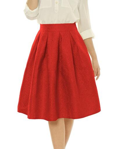 Ladies Red High Waist Full A-line Swing Dress Midi Skirt M 908ff826c8f86c30206badced3a4ec7a