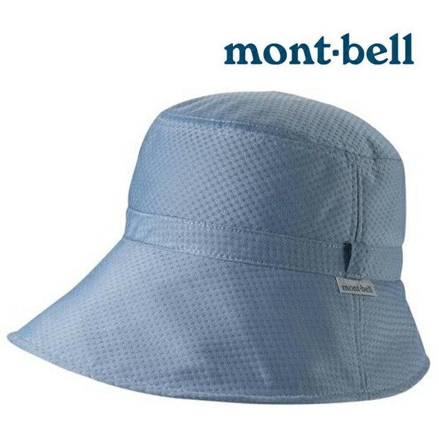 【mont-bell 日本】Waffle 寬邊帽 遮陽帽 圓盤帽 登山帽 健行帽 防曬帽 藍灰色/1108707