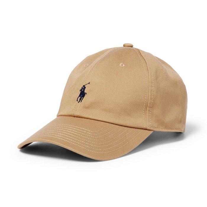 美國百分百【全新真品】Ralph Lauren 帽子 RL 配件 棒球帽 Polo 小馬 帆布 刺繡 男 卡其 A732