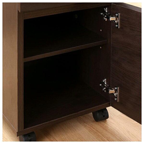 ◎系統桌 TRIPLO 119 DBR 複合式系統書桌櫃組 NITORI宜得利家居 7