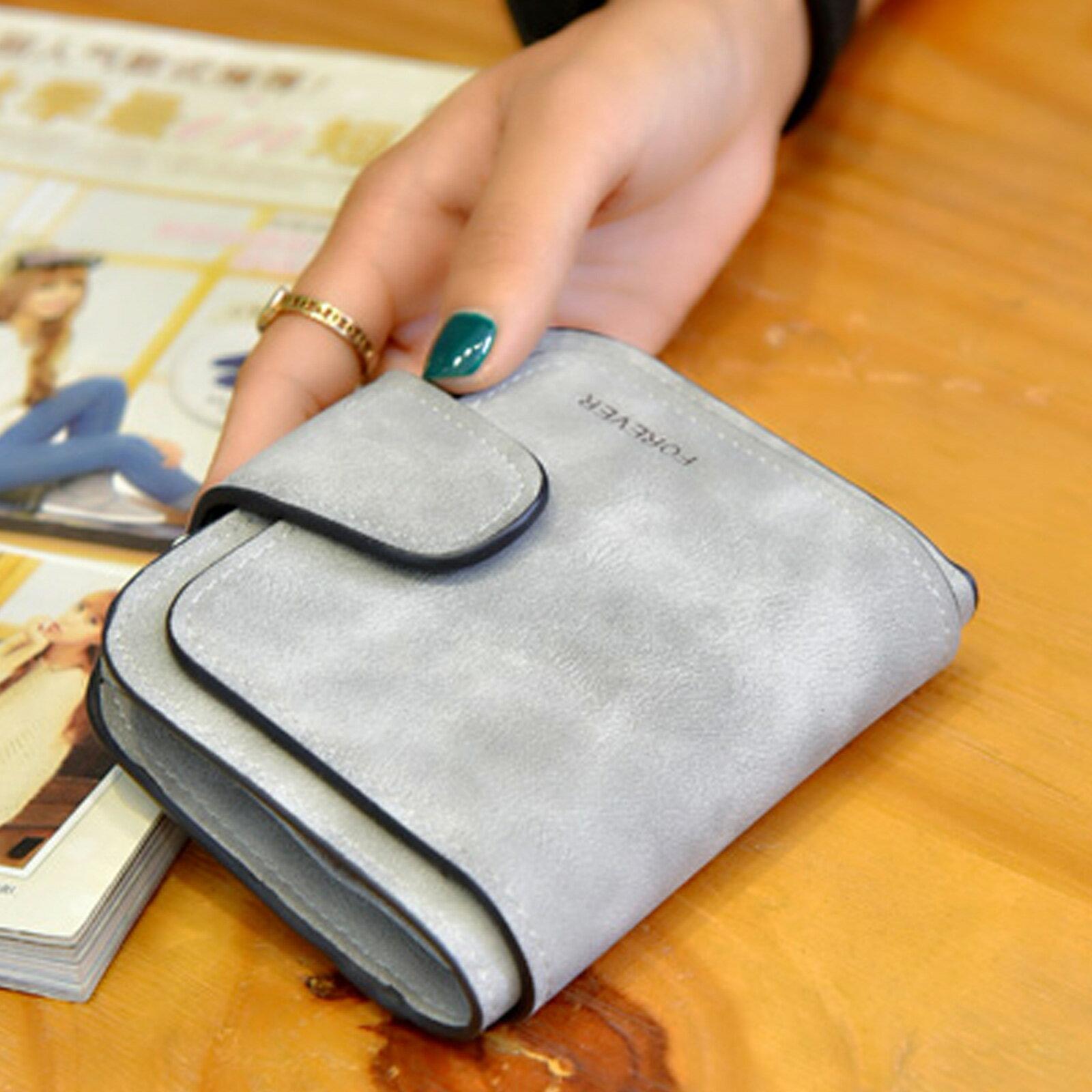 皮夾 錢包 拉鏈扣式磨砂多層短夾【O3215】☆雙兒網☆ 5