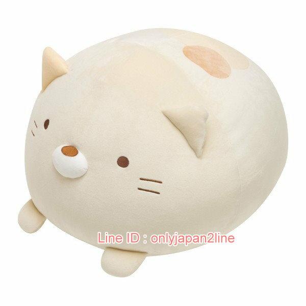 【真愛日本】4974413674539 軟棉柔包子麵團抱枕-貓咪  SAN-X 角落公仔 抱枕  擺飾 娃娃