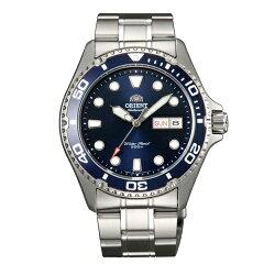 ORIENT 東方錶 WATER RESISTANT系列 200m潛水機械錶/藍色/FAA02005D