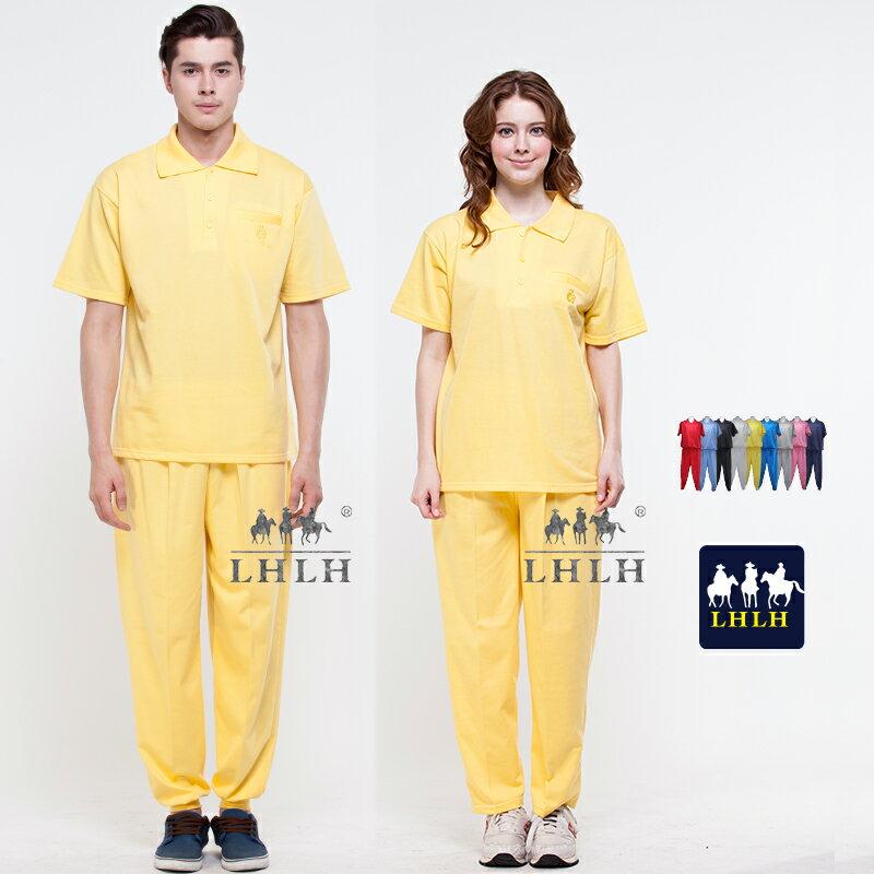 黃色運動套裝 工作服 宮廟服 進香服 短袖 男女 Polo衫 【現貨】