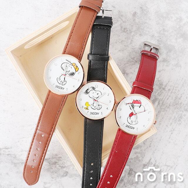 雙12 Supersale 整點特賣12 / 6 17:00開賣★【Snoopy皮革手錶】Norns 正版 史努比Peanuts 手足造型指針腕錶 聖誕節禮物 0