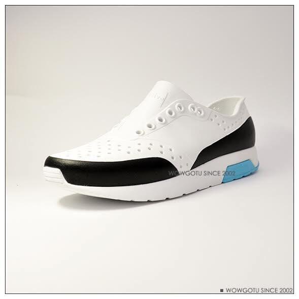 NATIVE  SHOES - LENNOX BLOCK-新款雷諾混色系列SHELL WHITE / SURFER BLUE / JIFFY BLOCK 2