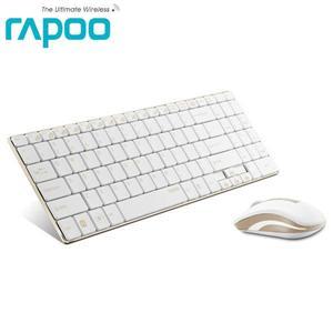 ★綠光能Outlet★Rapoo 雷柏9160-金無線鍵盤滑鼠組