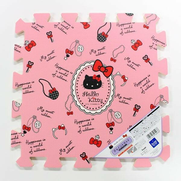 X射線【C169938】Hello Kitty 巧拼地墊(5入)粉,凱蒂貓/腳踏墊/地毯/止滑墊/坐墊/椅墊