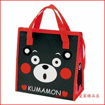 asdfkitty可愛家☆熊本熊方寬型輕量保溫便當袋/手提袋/購物袋-也可保冷-日本正版商品