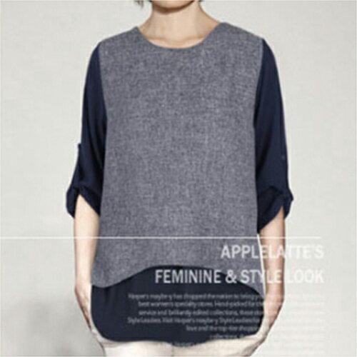 全店65折滿$599免運 兩件長袖T恤寬鬆衫 (2色,XL~5XL) - ORead 自由風格