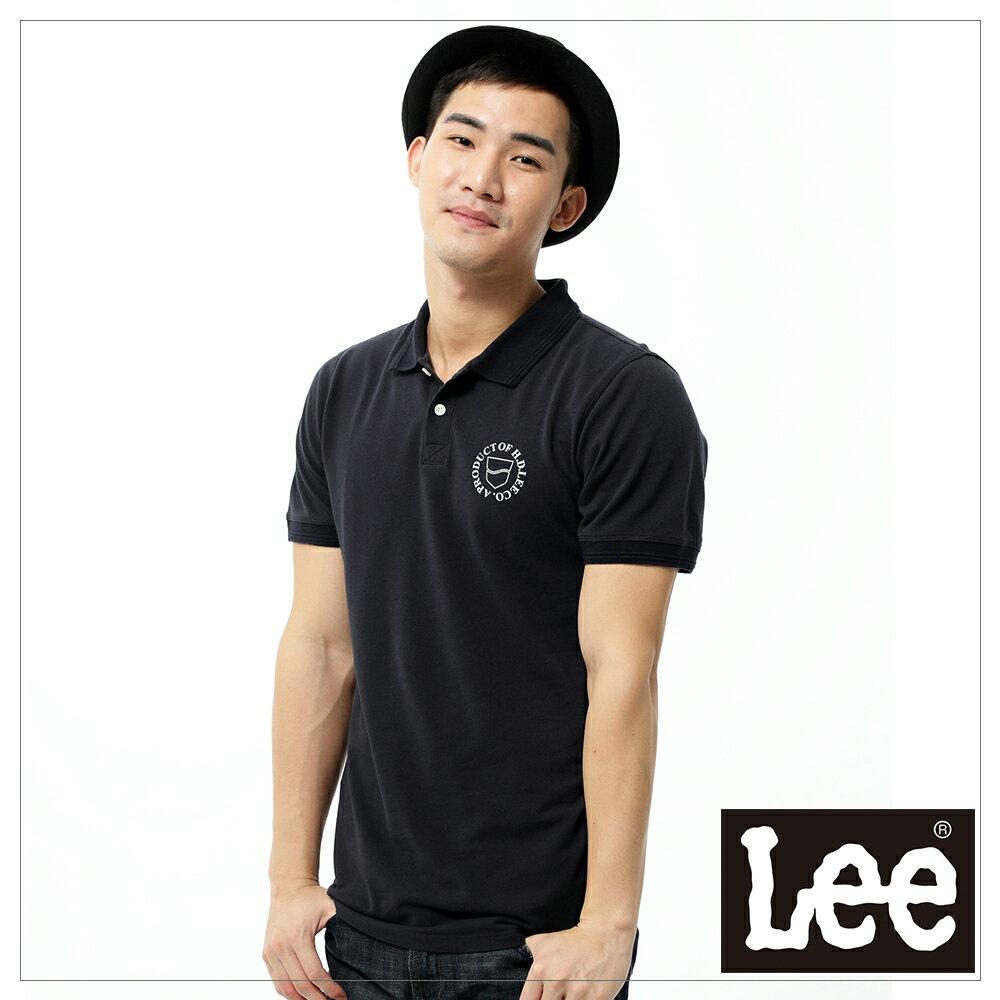 Lee 短袖POLO衫-黑