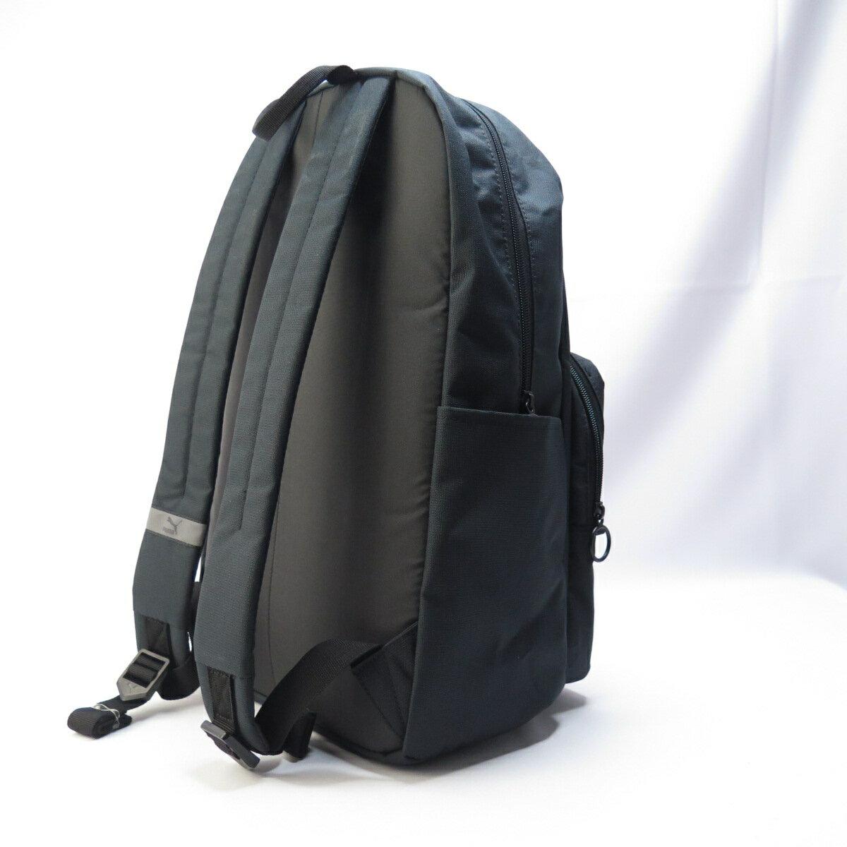 PUMA ORIGINALS 後背包 有夾層 水壺袋 07735301 黑金【iSport愛運動】