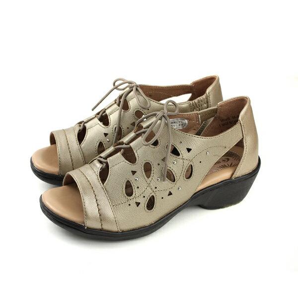 MoonstarSporth涼鞋香檳卡其女鞋SF14001no127