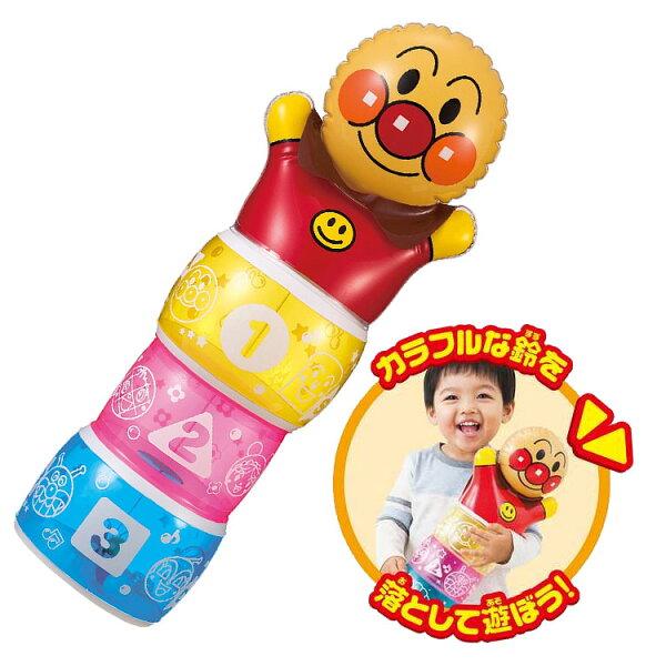 麵包超人搖搖鈴鐺充氣玩偶正版商品日本帶回