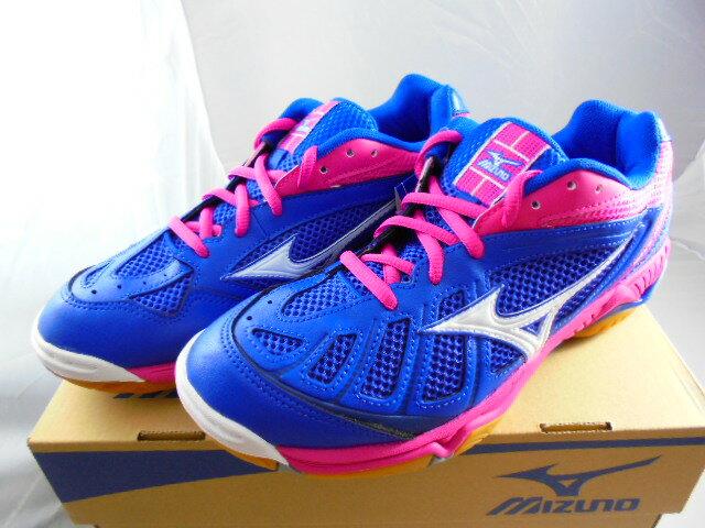 [陽光樂活] MIZUNO 美津濃 女  排球鞋 透氣網布 平行波浪片 V1GC154024