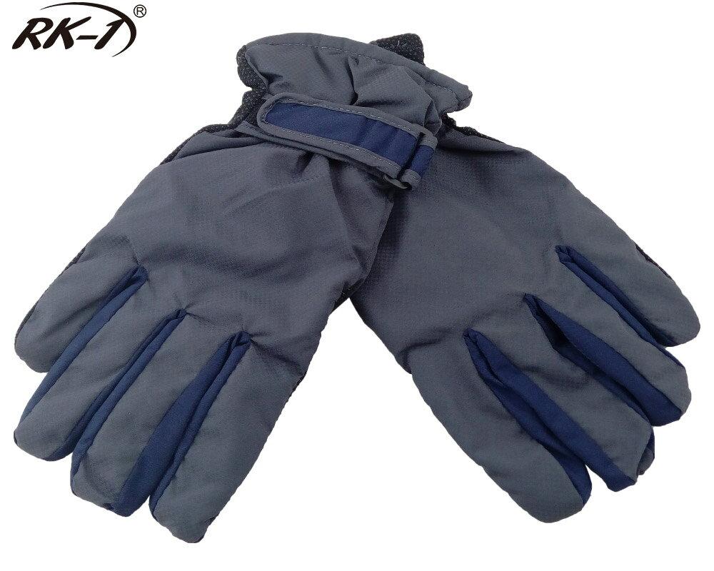 小玩子 RK-1 男用 手套 溫暖 防寒 防潑水 止滑 柔軟 灰藍 騎車 機車