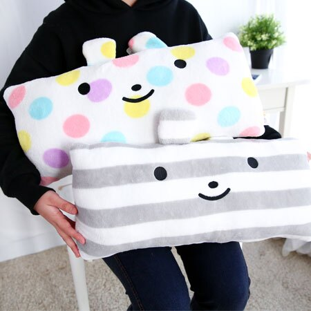 可愛綿綿兔長型抱枕 抱枕 長枕 長型枕 娃娃 玩偶 靠墊 靠枕 交換禮物【B062583】
