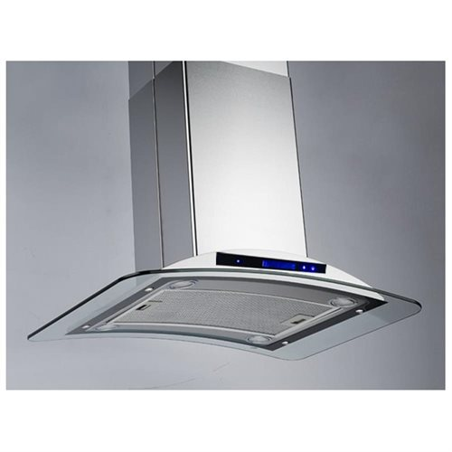 "AKDY 36"" GV-9009-36 Europe Style Stainless Steel Island Range Hood Touch Control 2"