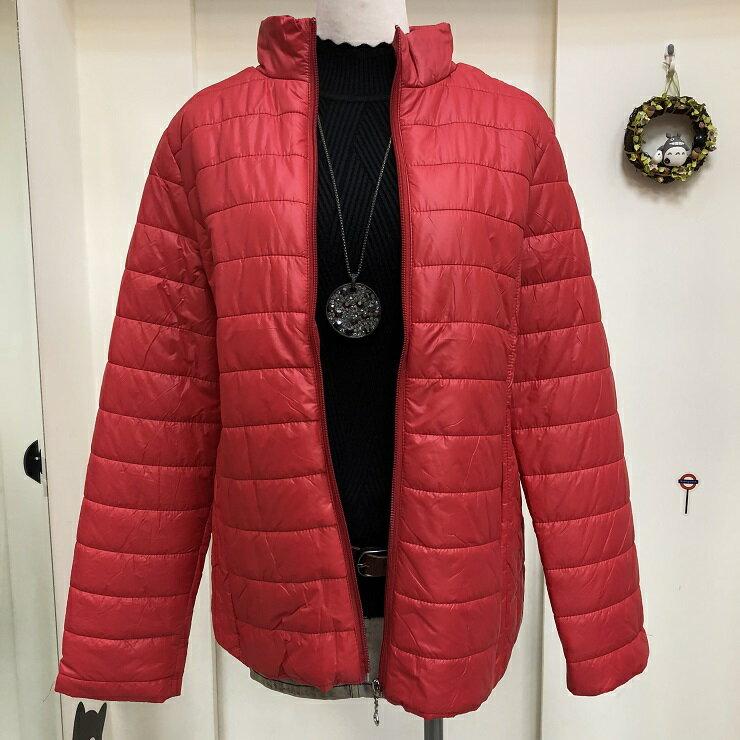 超取免運 紅 防潑水 防水 防風 鋪棉 保暖 外套 夾克 大衣 女裝 女 女生