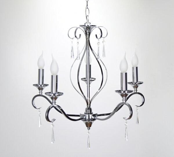 金屬鍍鉻5燈吊燈-BNL00096