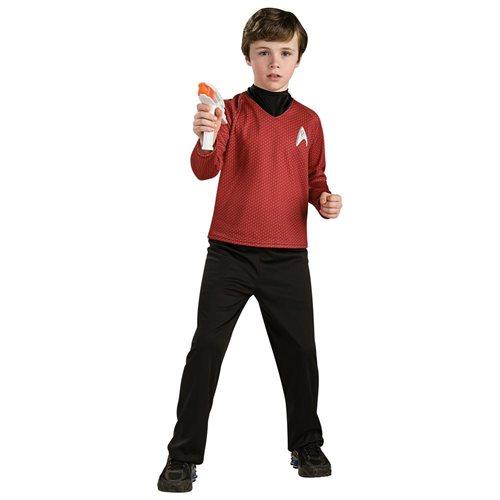 Star Trek Movie Deluxe (Red) Shirt Child Halloween Costume 0