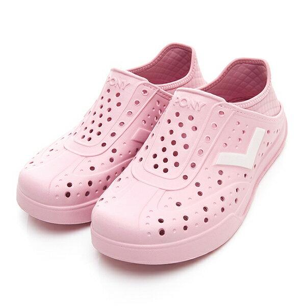 《2019新款》Shoestw【92U1SA03PK】PONY Enjoy 洞洞鞋 水鞋 海灘鞋 可踩跟 懶人拖 菱格紋 全粉紅 白V 男女尺寸都有 0