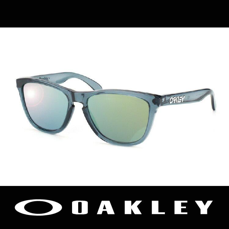 【新春滿額送後背包!只到2/28】OAKLEY 太陽眼鏡 FROGSKIN系列 黑水晶色 透明鏡框 休閒款 03-291 萬特戶外運動