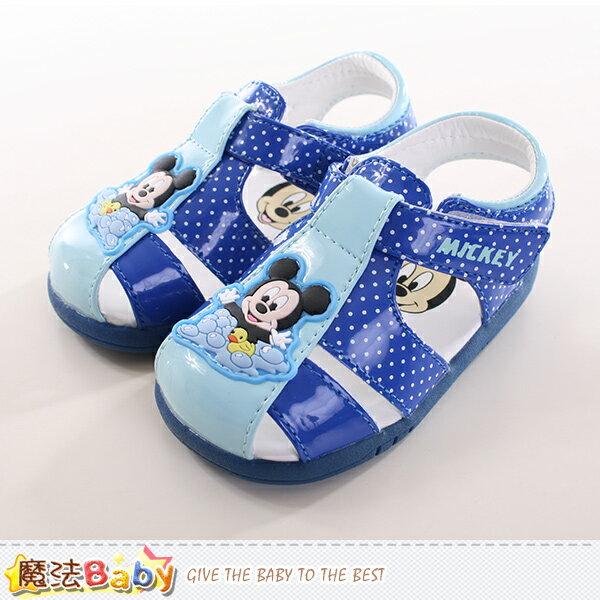 寶寶鞋迪士尼米奇正版寶寶外出鞋 魔法Baby~sh9734