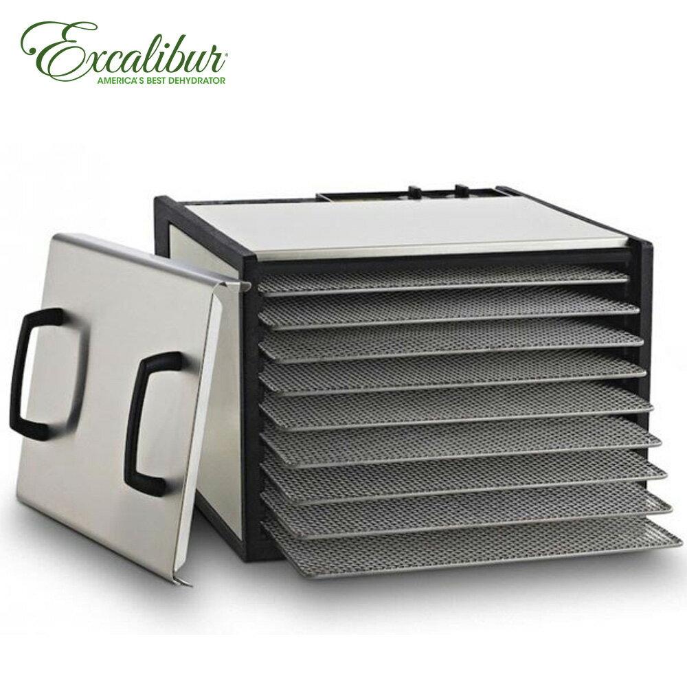 限時調降★加贈35L大烤箱★ Excalibur 九層轉鈕式低溫乾果機/不鏽鋼外殼 900SHD+112372