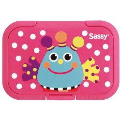 日本製 Bitatto 重覆黏濕紙巾專用盒蓋(大) Sassy 藍色小怪獸 *夏日微風*