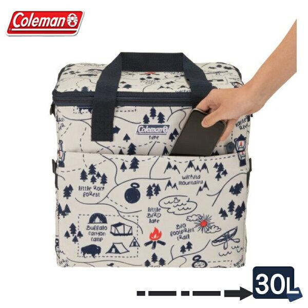 【露營趣】ColemanCM-3343330L露營地圖保冷袋軟式冰箱軟式冰桶保溫袋摺疊冰桶保冰袋保冰桶野餐籃