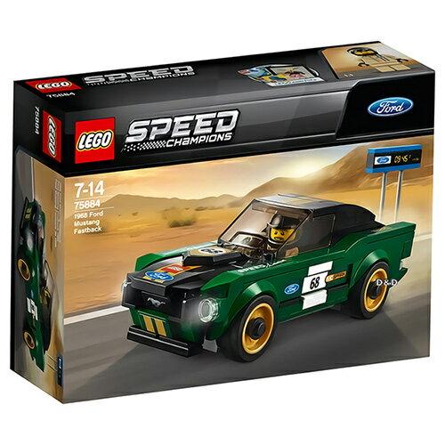 樂高LEGO 75884 SPEED CHAMPIONS 系列 - 1968 Ford Mustang Fastback - 限時優惠好康折扣