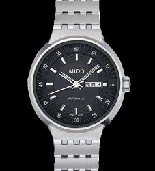 MIDO 美度 All Dial 羅馬競技場 女用機械腕錶  M733041812 銀 黑 30mm
