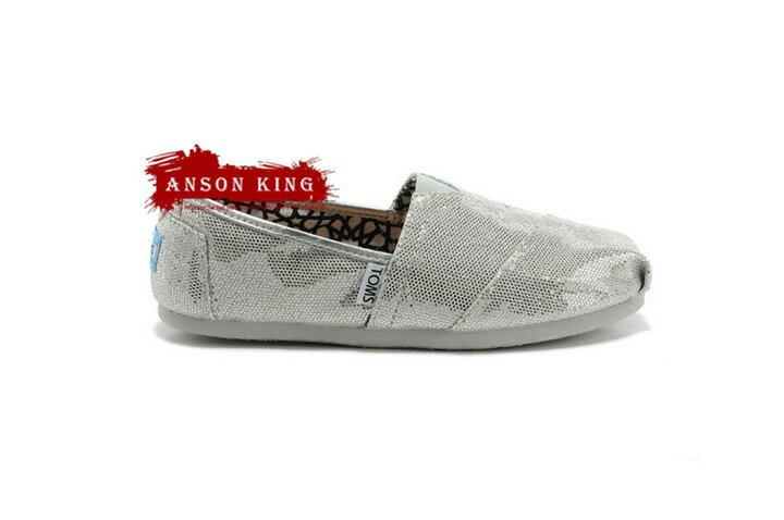 [女款] 國外代購TOMS 帆布鞋/懶人鞋/休閒鞋/至尊鞋 亮片系列  銀色 3