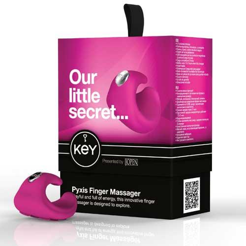 [漫朵拉情趣用品]美國【Key】Pyxis手指震動器-粉色 DM-9191514