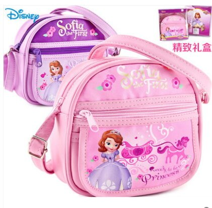 Disney 迪士尼兒童包包女童斜挎包 小公主蘇菲亞 單肩女寶寶手提包