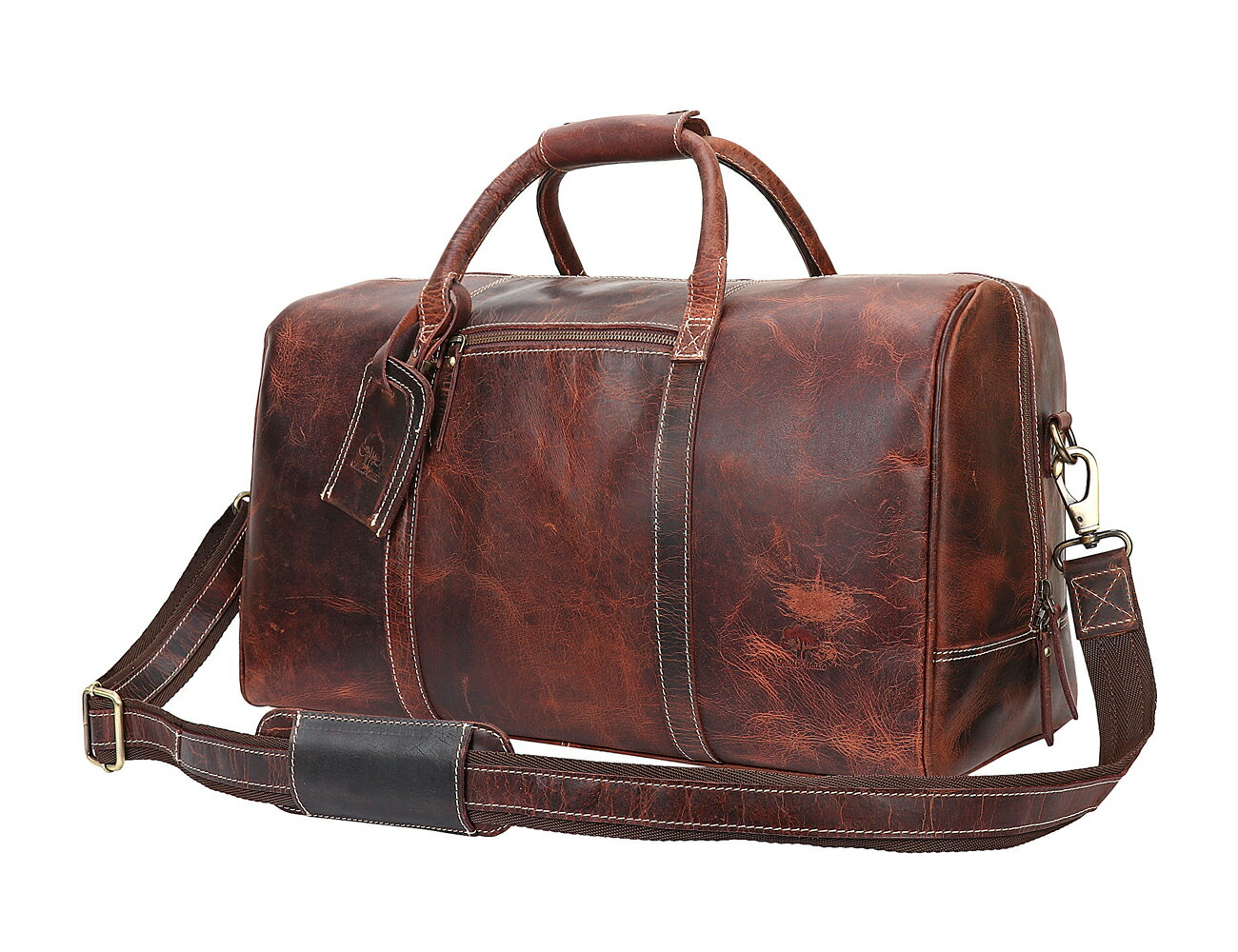 be30df414bf6 Rustic Town Leather Travel Duffel Bag Overnight Weekend Luggage Carry On Airplane  Underseat 0