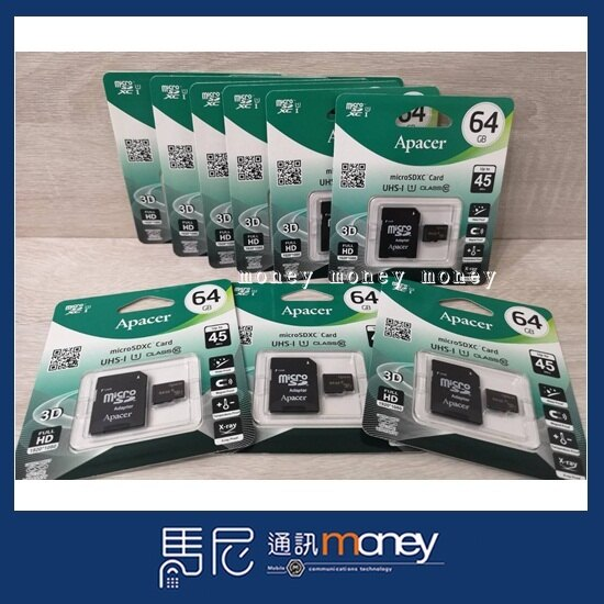 宇瞻 Apacer MicroSD 64GB UHS-I Class10 記憶卡(附SD轉卡)/高速記憶卡【馬尼通訊】