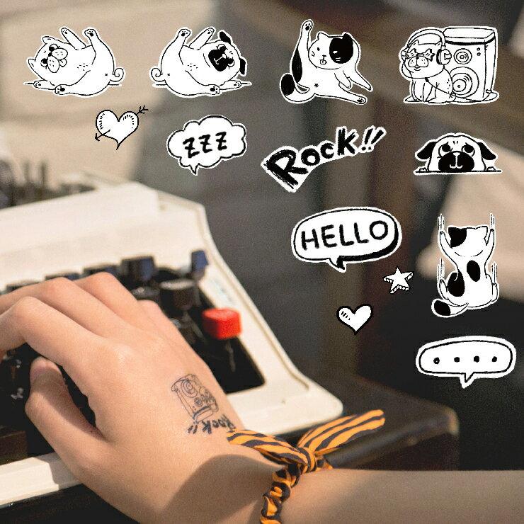 普萊森特|手繪紋身貼紙
