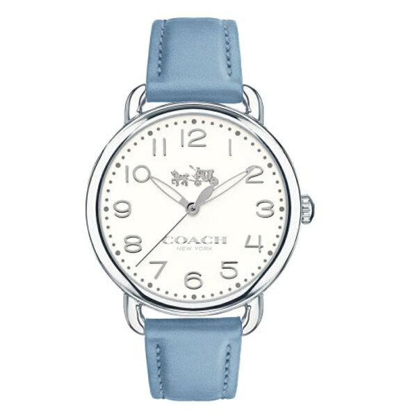 COACH耀眼迷人時尚腕錶白*藍皮14502559
