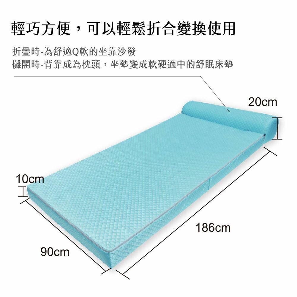記憶床墊 / 沙發床 / 沙發【時尚品味10公分記憶沙發床】3x6.2尺 輕鬆折合變換使用  MIT台灣製 Rohouse 樂活居 1