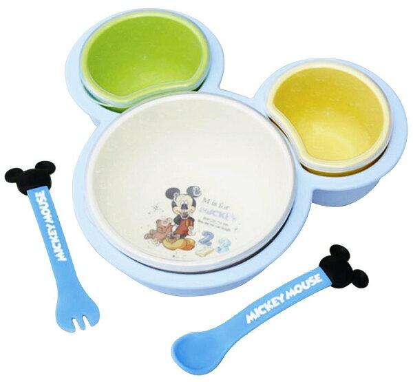 X射線 精緻禮品:X射線【C306514】米奇Mickey塑膠造型餐盤餐具組,餐盤餐碗玻璃碗陶瓷碗交換禮物迪士尼Baby