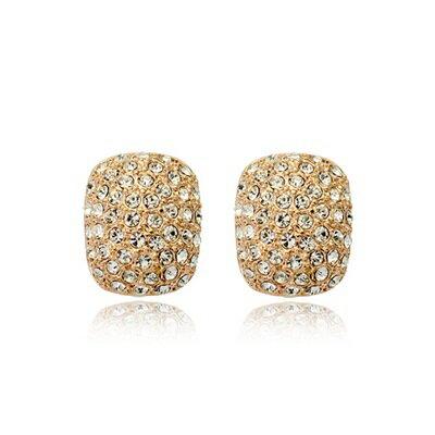 ~玫瑰金耳環925純銀鑲鑽耳飾~  百搭情人節生日 女飾品2色73gs189~ ~~米蘭