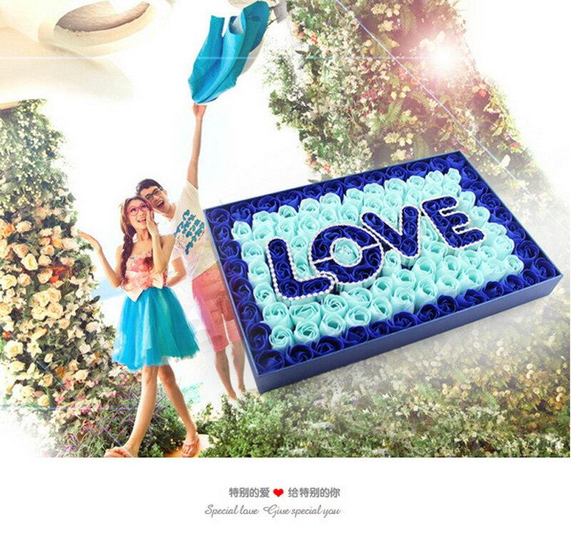 [BEEBUY]99朵玫瑰~愛你久久~禮盒香皂花 玫瑰香皂花  香皂玫瑰花皂片 香皂花 求婚告白 情人節禮物