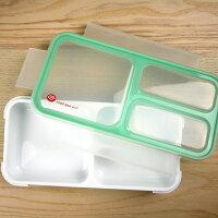 野餐盒不可缺單品【日本 CB Japan】巴黎系列迷你纖細餐盒400ml 綠色 /便當盒/野餐