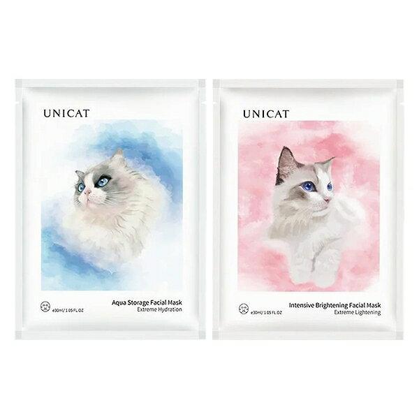 UNICAT 變臉貓 超導 水潤保濕/瑩潤亮膚 奶皮面膜(單片) 款式可選【小三美日】◢D361980