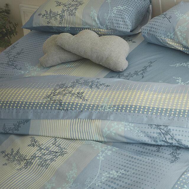 床包被套組 / 雙人【上野之森-夏風 】含兩件枕套四件組,精梳棉 / 台灣製 絲薇諾 3